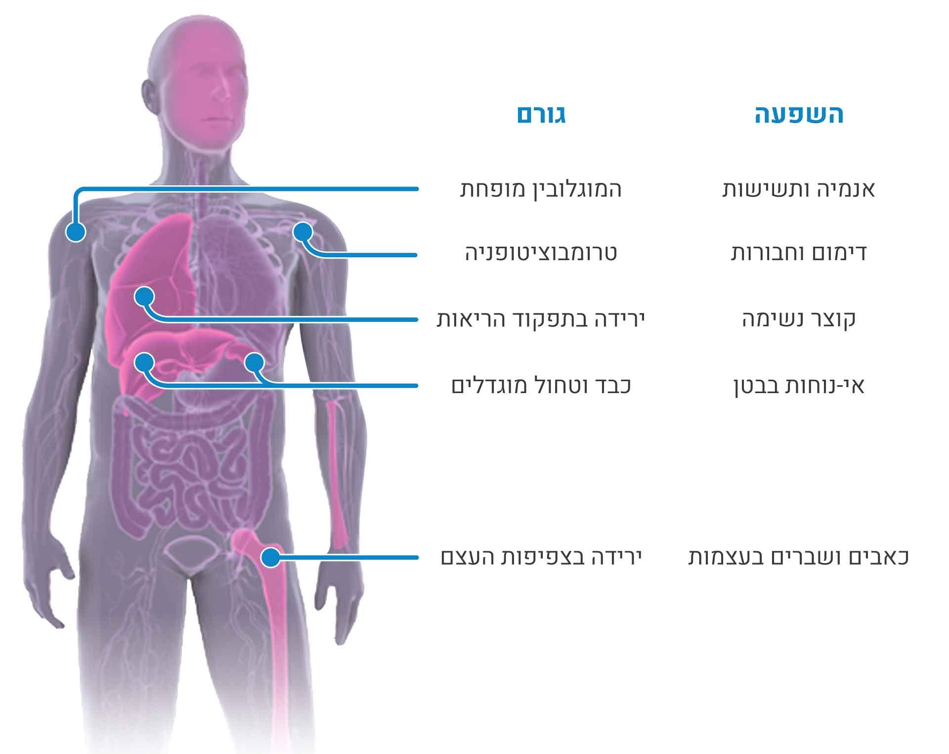 תסמינים של מחלת גושה סוג 1